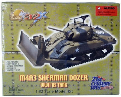 M4A3 Sherman with Dozer, 1:32, 21st Century Toys