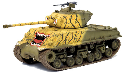 M4A3E8(76W) HVSS 8th Infantry Tank Co., 24th Infantry Division, Han River, Korea, 1951, 1:72, Dragon Armor