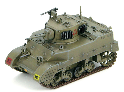 M5A1 Stuart British Army, 23rd Hussars, 29th Armoured Brigade, 11th Armoured Division, 1:72, Hobby Master
