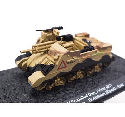 "M7, 105 mm, HMC ""Priest"", 1st Armoured Division, El Alamein, Egipto, 1942, 1:72, Altaya"