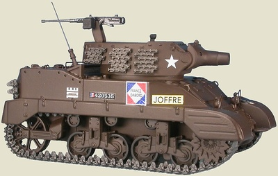 M8 Scott 75 mm Howitzer Motor Carriage, 1e REC - 5e DB, Alsacia, 1944 1:48, Gasoline