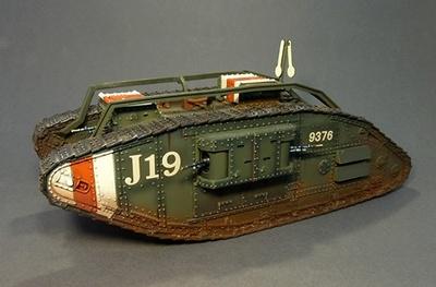 MARK V, FEMALE VERSION, Batalla de Amiens,  6 Agosto, 1918,  10º Batallón, III Cuerpo PS, J19, 9376, Lt., 1:30, John Jenkins