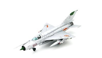 """MIG-21MF Jet Fighter 5121, pilot Pham Tuan 921st """"Sao Do"""", Dec 1972, 1:72, Hobby Master"""