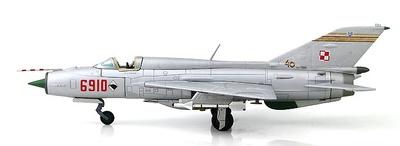 MIG-21PFM No.6910, 1st Sqn. of 62nd Fighter Regiment Polish AF, Poznan-Krzesiny AB, 1994, 1:72, Hobby Master