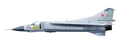 "MIG-23M Flogger ""Yellow 49"", 787th IAP, Eberswalde, Finow AB, Brandenburg, East Germany, 1970s, 1:72, Hobby Master"