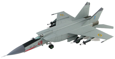 "MIG-25PD ""Foxbat"" Red 49, 146º Regimiento de cazas, Fuerza Aérea Ucraniana, 1995, 1:72, Hobby Master"