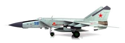 MIG-25PDS Foxbat Blue 59, 146th GvIAP, 8th USSR Air Defence Army, Base Aérea de Vasilkov, 1985, 1:72, Hobby Master
