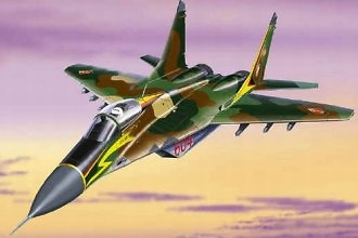 MIG 29 Fulcrum A, East German Air Force DDR GDR, 1:48, Franklin Mint