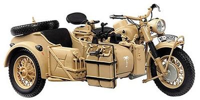 MOTOCICLETA BMW R75 con sidecar, DESERT VERSION, 1:10, Schuco