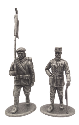 Major-General Henri Goraud and Alpine Hunter standard-bearer, France, 1918, 1:24, Atlas Editions