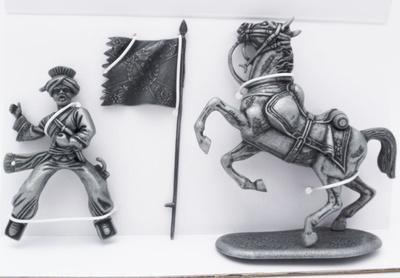 Mameluco, Caballo de Mameluco, Bandera Rusa Porteada por Mameluco, 1:24, Atlas Editions