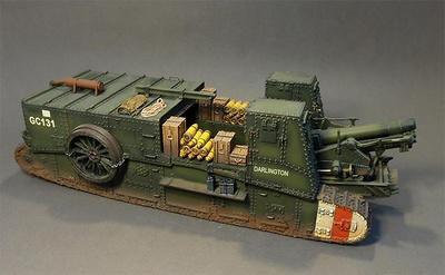 Mark I con cañón 6 pulgadas Howitzer , 1ª compañía de transportes, Ejército Británico, 6, Agosto, 1918, 1:30, John Jenkins