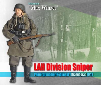 """Max Winzel"", LAH Division Sniper, Panzergrenadier-Regiment 1, Krasnograd, 1943 (Sturmmann), 1:6, Dragon Figures"