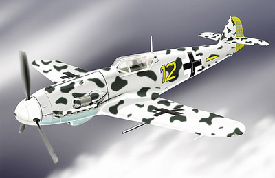 Me 109G (Luftwaffe VI/JG 5) Winter Camo, 1:48, Franklin Mint
