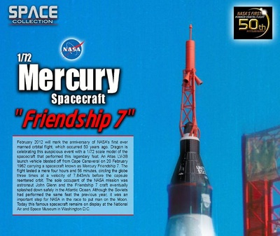 "Mercury Spacecraft ""Friendship 7"", Febrero, 1962, 1:72, Dragon Space Collection"