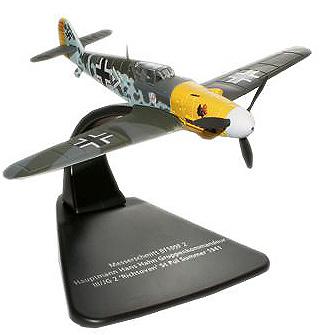Messerschmitt Bf 109F, pilotado por el As de la Luftwaffe Hans Hahn sobre Francia en verano de 1941, 1:72, Oxford