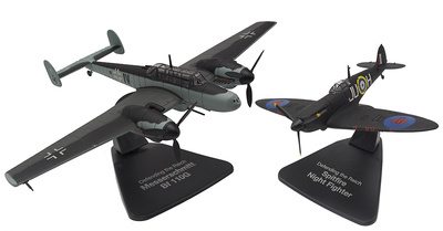 "Messerschmitt Bf 110G + Spitfire Night Fighter ""Defensa del Reich"", 1:72, Atlas"