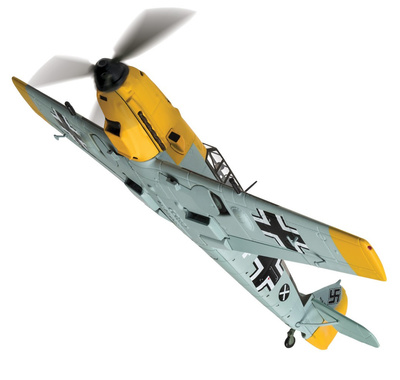 Messerschmitt Bf109E-4, W.Nr. 3579 'White 14', Fahnrich Hans Joachim Marseille, 1:72, Corgi