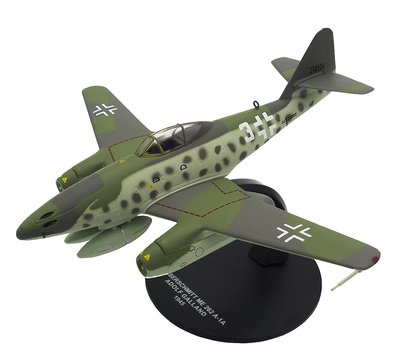 Messerschmitt ME-262 A-1A, piloto Adolf Galland, 1945, 1:72, Atlas
