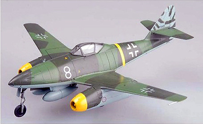 Messerschmitt Me 262A, White 8, Walter Nowotny, Alemania, 1944, 1:72, Easy Model