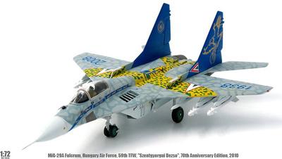 MiG-29A Fulcrum, FFAA Húngaras, 59º Ala de combate táctica, 70 Aniversario, 2010, 1:72, JC Wings