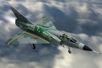 "Mirage IIIE,  French ""Ardennes"", 1:48, Franklin Mint"