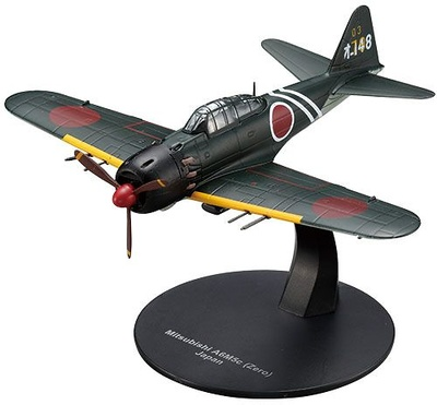Mitsubishi A6M5 Zero, 2ª Guerra Mundial, Armada Japonesa, 1:72, DeAgostini