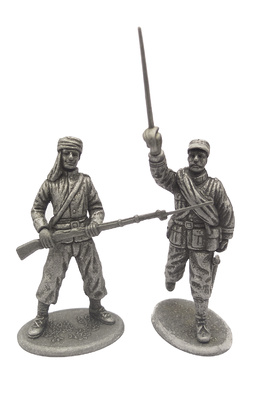 Moroccan Infantry and Hunter Officer, 1914, 1:24, Atlas Editions
