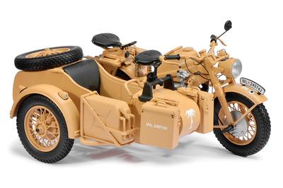 Motocicleta Zundapp KS750, Afrika Korps, 1:10, Schuco