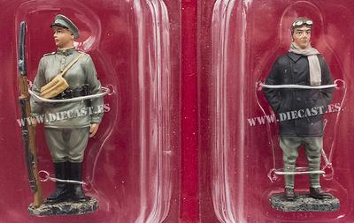 Mujer Soldado, Rusia, 1917 + Piloto, Austria, 1917, 1:32, Hachette