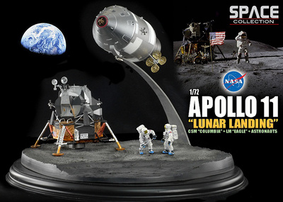 "NASA Apollo 11 ""Lunar Landing"" CSM ""Columbia"" + LM ""Eagle"" + Astronauts, 1:72, Dragon Wings"