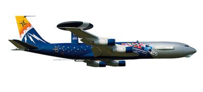 """NATO Boeing E-3 AWACS """"25th anniversary E-3 component"""", 1:500, Herpa"""