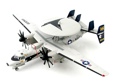 """Northrop Grumman E-2C Hawkeye 2000 165649, VAW-117 """"Wallbangers"""", USS Nimitz, 1:72, Hobby Master"""