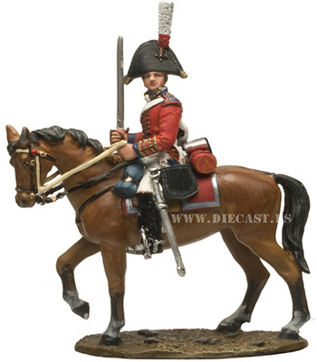 Officer, British 5th Dragoon Guards, 1812, 1:30, Del Prado