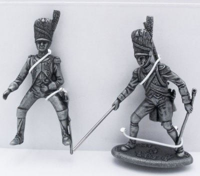 Officer of the Artillery Guard, Gunner Guard on Foot with Rod, 1:24, Atlas Editions