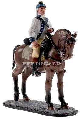 Oficial, Dragón ligero, Armada Continental, EE.UU, 1781, 1:30, Del Prado