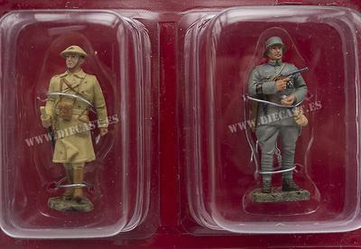 Oficial, Gran Bretaña, 1917 + Teniente Alemán, 1917, 1:32, Hachette