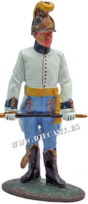 Oficial, regimiento austríaco Splényi, 1800, 1:30, Del Prado
