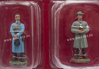 Oficial Francés, 1915 + Capellán Alemán, 1915, 1:32, Hachette