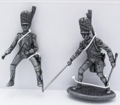 Oficial de la Guardia de Artilleria, Guardia Artillero a Pie con Vara, 1:24, Atlas Editions