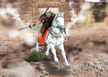 Oficial romano a caballo, 1:32, Forces of Valor