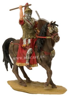 Oficial romano con máscara a caballo, 1:32, Planeta Agostini