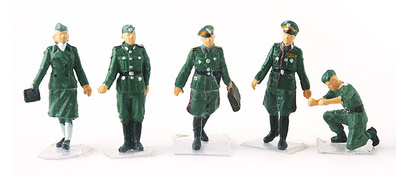 Oficiales Alemanes, 2ª Guerra Mundial, 1:72, PMA