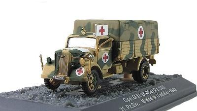 Opel Blitz 3.6-36S (Kfz. 305) 21.Pz.Div. Medinne (Tunisia), 1943, 1:72, Altaya