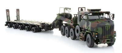 Oshkosk, Het M1070 w/M1000 Trailer, Camouflage, 1:50, Sword Models