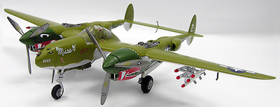 P-38J LIGHTING, DRAGON TAIL, WITTY WI., 1:72