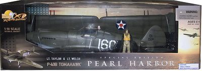 "P-40B Tomahawk,  Pearl Harbor ""White 160"", 1:18, 21st Century Toys"