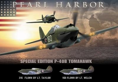 "P-40B Tomahawk,  Pearl Harbor ""White 316"", Diciembre 1941, 1:18, 21st Century Toys"