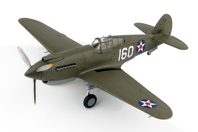 P-40B Warhawk, 2nd Lt. George Welch,  47th Pursuit Squadron,  15th Pursuit Group, Wheeler Field, Hawaii, 1941, 1:48, Hobby Master