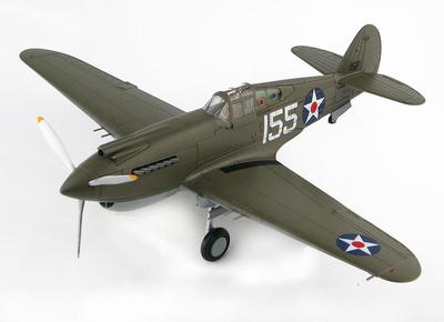 P-40B Warhawk White 155, 47th PS, 15th PG, Wheeler Field, Hawai, 1941, 1:48, Hobby Master